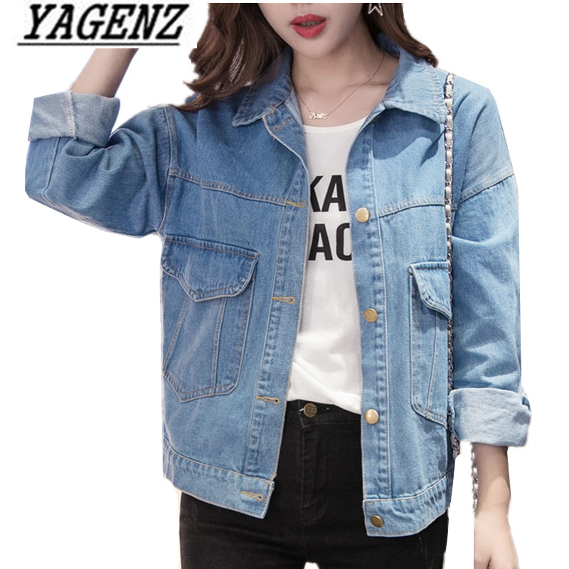 2019 Women   Basic   Coat Denim   Jacket   Women Single-breasted Denim   Jacket   For Women Jeans   Jacket   Denim Coat loose fit casual style