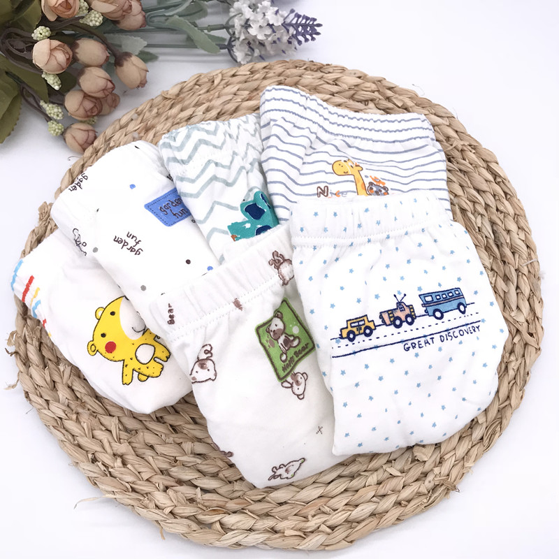 1PCS Children's Cotton Underwear Boys Cartoon Printed Panties Kids Briefs