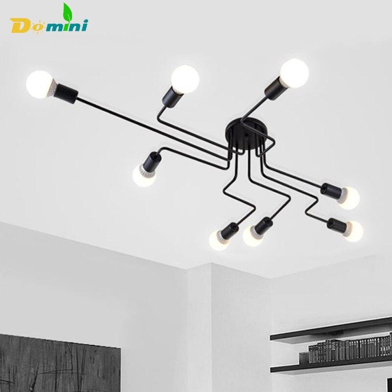 Ceiling Lights Vintage Lamps For Living Room Iluminacion Ceiling Light Wrought Iron Luminaria E27 Bulb Home Lighting Fixtures