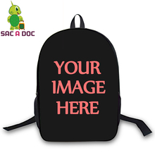 Customize Your Image Backpack Women Men Travel Bags Daily Backpack for Teenagers Girls Boys School Laptop Backpack Hip Hop Bags
