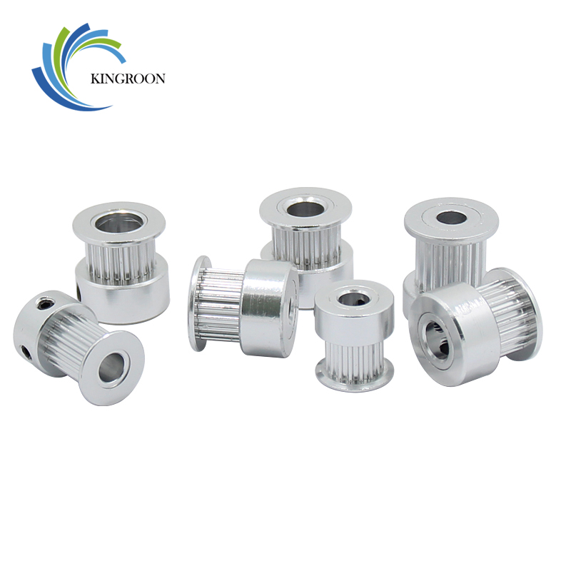 GT2 Timing Pulley 16 Tooth 2GT 20 Teeth Aluminum Bore 5mm 8mm Synchronous Wheels Gear Part For Width 6mm 10mm 3D Printers Parts
