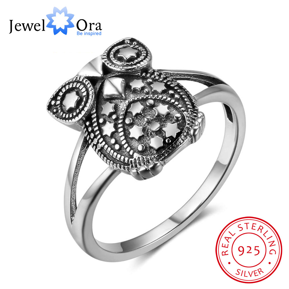 New 925 Sterling Silver For Women Cute Owl Shape Design With Star  Decorations Fashion Silver Jewelry