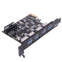 4 Port PCI E To USB 3 0 Hot Swap Plug And Play Converter Extender Card