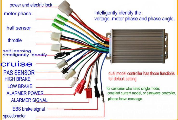 24v36v48v60v64v250w350w bldc controller 6mosfet two