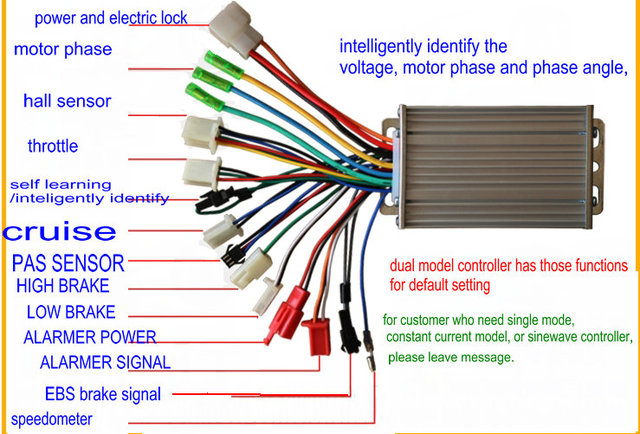 350 W 36 V48 V Brushless Controller Fuer Scooter E Fahrrad Mitohne Hall Sensor moreover Help And Info as well 24v 250watts 6mosfets Brushless Controllers besides Speedcontrollers24volt besides 32341317159. on electric bicycle controller schematic