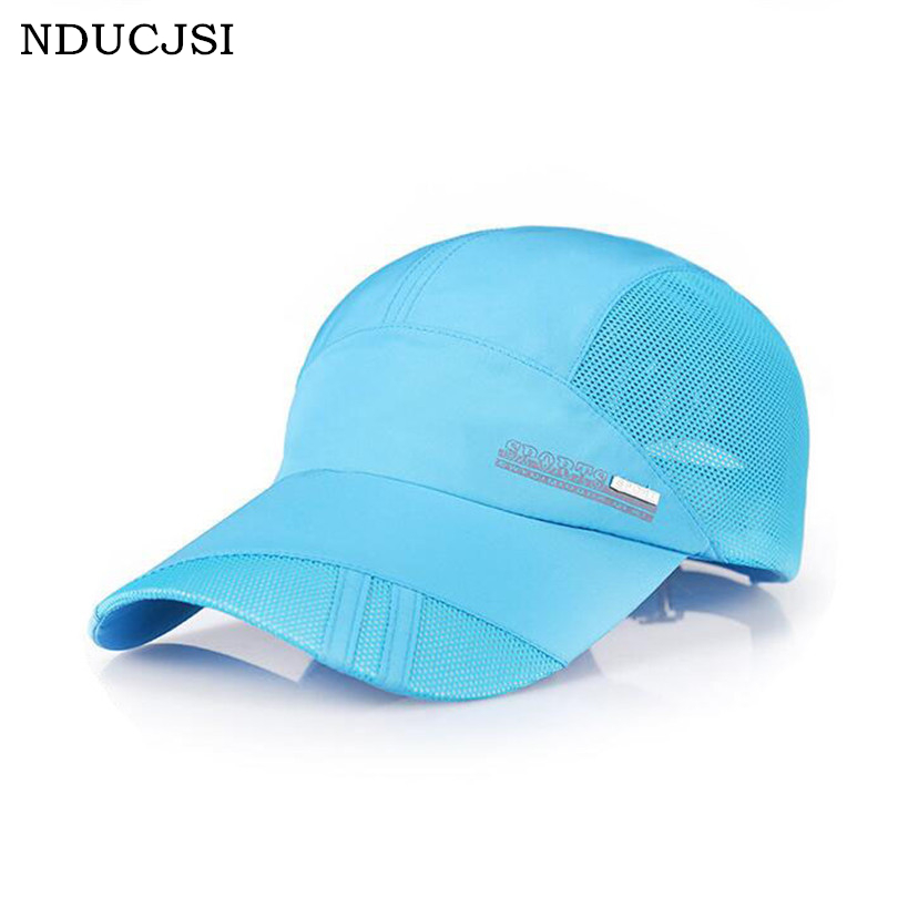 NDUCJSI 2016 Summer Baseball Men Caps Mesh Cap UV Protection Adjustable Travel Breathable Man Sun Hat Sports Caps M046 yoursfs 18k rose white gold plated letter best mum heart necklace chain best mother s day gift