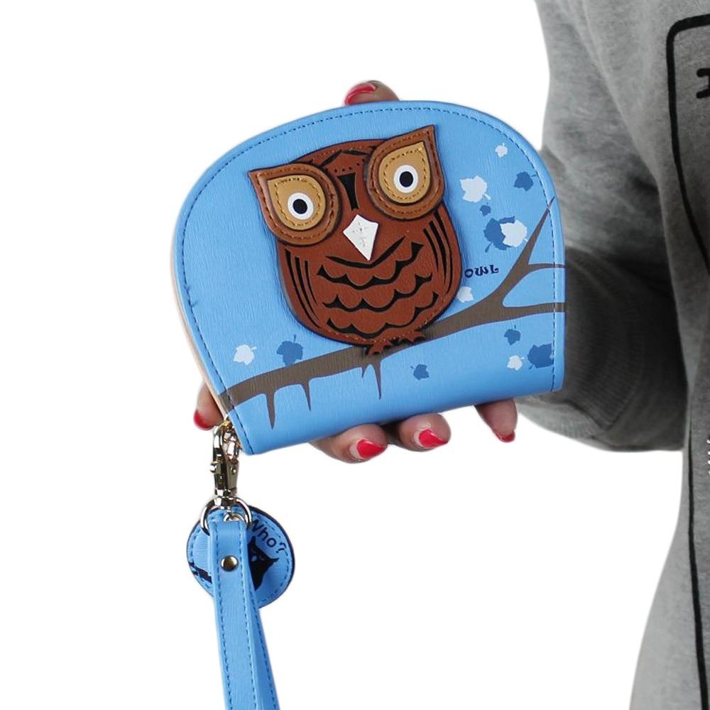 2017 New Fashion Wallets Women Owl Silicone Wallet Change Bag Key Pouch Coin Purse Women Wallets,carteira feminina,Women Clutch