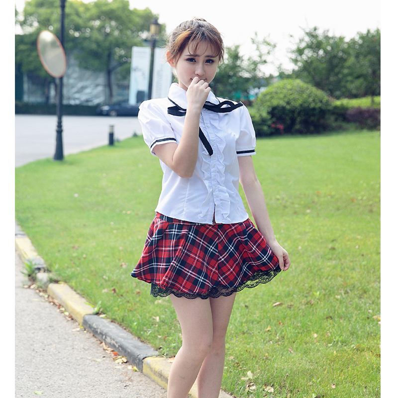 S Xxl Anime School Uniform Topplaid Skirt Sailor Suits -8038