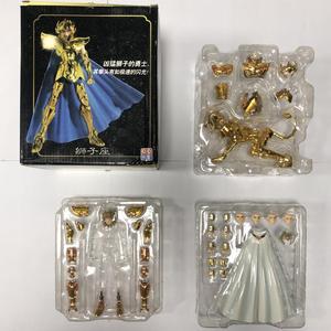 Image 1 - QQ model Saint Seiya Cloth Myth EX Gold Leo Aiolia models metal cloth no body