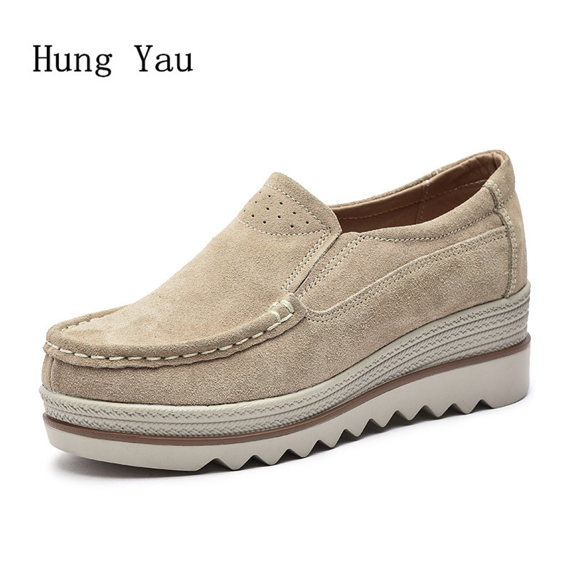 Women Shoes Flats Genuine Leather 2017 Summer Fashion Casual Shoes Woman Flat Platform Work Slip On Comfortable Walking Loafers summer slip on shoes women oxfords shoes loafers flats woman casual flat shoes high quality plus size 35 40