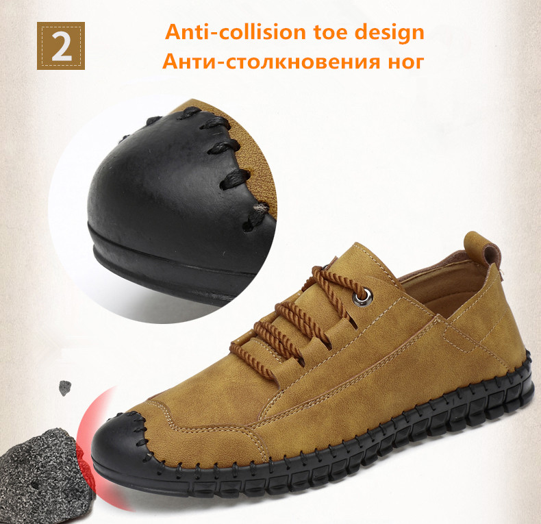 HTB13NNaaynrK1Rjy1Xcq6yeDVXa6 - 2019 New Fashion Leather Spring Casual Shoes Men's Shoes Handmade Vintage Loafers Men Flats Hot Sale Moccasins Sneakers Big Size