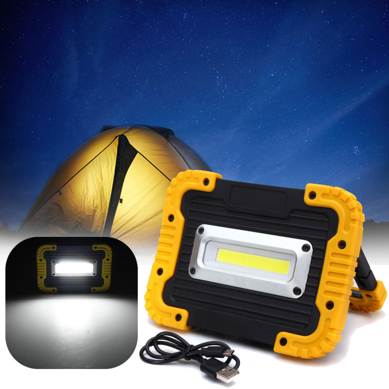 Smuxi 10W COB LED Floodlight Portable Rechargeable Battery Powered Flood Spot Light Work Camping Outdoor Lamp Lantern cob led flood light dimmable 100w portable led floodlight cordless work light rechargeable spot outdoor working camping lamp