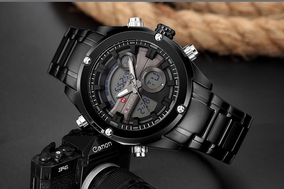Top Luxury Brand NAVIFORCE Men Full Steel Sport Watches Men's Quartz Analog LED Clock Man Military Wrist Watch Relogio Masculino 4