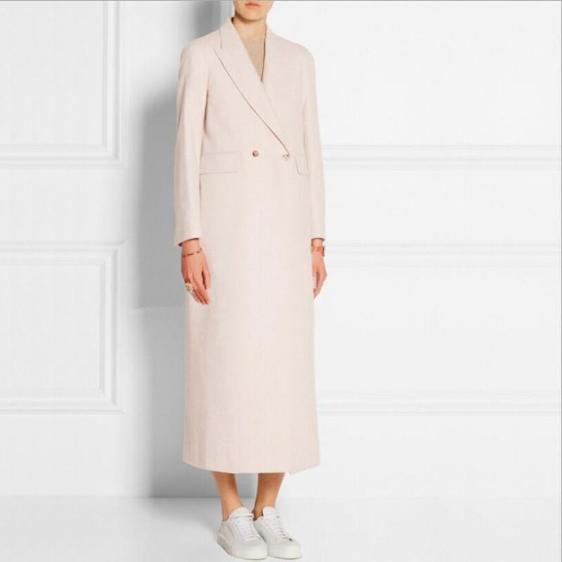 Européen Femelle Américain Et Mode De Veste X Pardessus Laine Femmes D'hiver 2019 Manteau long Matelassée Style Beige En Nouvelle qCTdqw