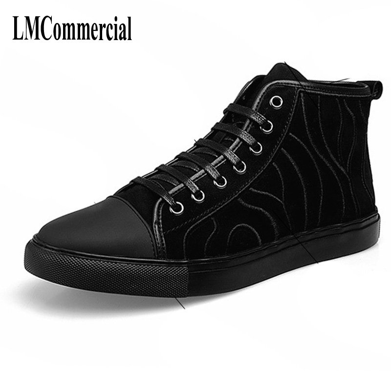 The new men boots 2017 winter fashion Korean embroidery shoes Black Flat matte leather boots men breathable sneaker kelme 2016 new children sport running shoes football boots synthetic leather broken nail kids skid wearable shoes breathable 49