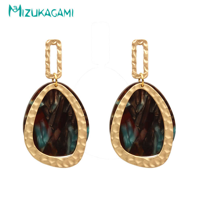 Fashion Asam Asetat Resin Water DROP Berlebihan Drop Anting-Anting untuk Wanita Kasual Pesta Anting-Anting