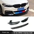 5 серий сплиттеры для передних губ из углеродного волокна для BMW G30 G31 G38 M Tech M Sport 2017 2018 2019 налобный бампер отделка фартуки 3 шт./компл.
