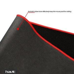Большой гровой коврик для мыши HAVIT HV-MP830 из серии Magic Eagle. Водостойкий резиновый коврик для профессиональных игроков. Размер коврика 35  * 12 дюймов. Цвет – черный.