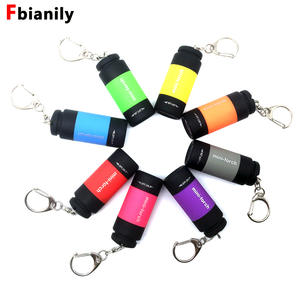 Flashlight USB Keychain Mini-Torch Usb-Charge Portable 25lum Led