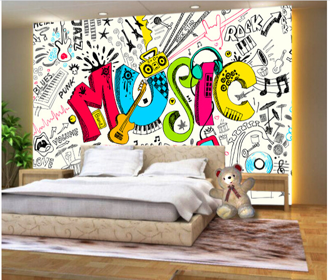 Wallpaper map picture more detailed picture about custom - Graffitis en papel ...