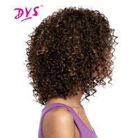 Deyngs Short Afro Kinky Curly Synthetic Wigs Pixie Cut African American Wig For Black Women Natural