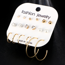 Fashion Earrings Set For Women Mixed Rhinestone Crystal
