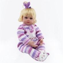 Фотография 22 Inch Bebe Reborn Babies 55cm Doll Silicone Reborn Handmade Realistic Baby Dolls Toys for Children Gift Juguetes Brinquedos