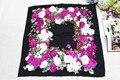 100% de seda mujeres bufanda cuadrada, Material : seda de la tela cruzada tamaño : 88 x 88, Thickness14mm peonía