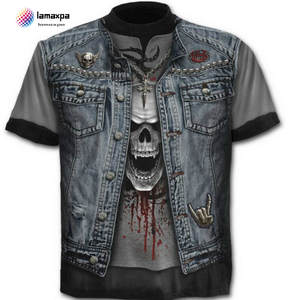 La MaxPa male T-shirt summer skull men tee cotton
