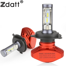 Zdatt Newest H4 Led Bulb H7 H11 H8 H9 H1 9005 HB3 9006 HB4 8000Lm 80W 12V 24V Led Headlight Bulb Auto Car Light 6500K CSP zdatt h4 h7 led h11 h1 9005 hb3 9006 hb4 9003 hb2 h3 h8 h9 headlight bulb car light 24v 12v automobiles 6000k csp 80w 8000lm set