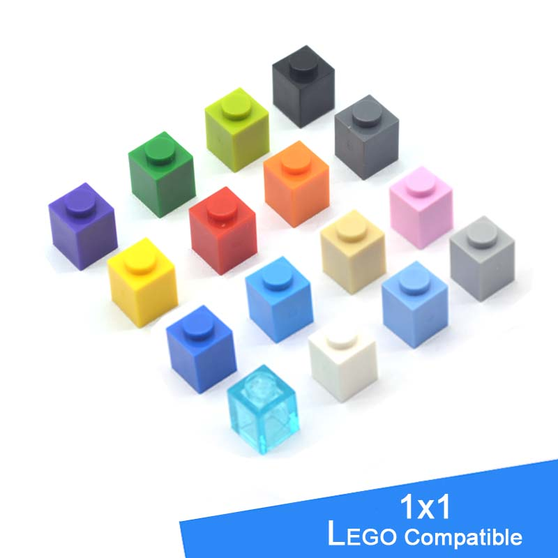Classic DIY Model Legoe Compatible Blocks Plastic Building Toys Bricks Parts 1X1 Learning Education Toys For Children 300pcs/lot