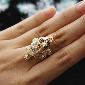 Fashion Chinese Traditional luckey ToadFrog RingsGoldSilver
