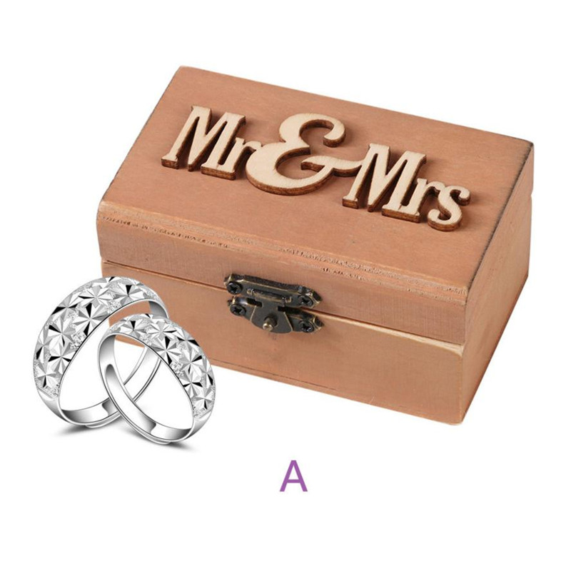 DO OLD Retro Wedding Ring Box Holder Classic Wooden Shabby Chic Rustic Wooden Bearer Cas ...