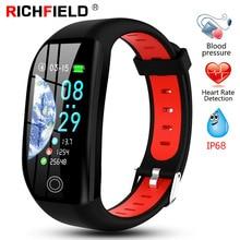 F21 Smart Bracelet Men Women IP68 Blood Pressure Watch Sleep Monitor Band Health Wristband Fitness GPS Activity Tracker