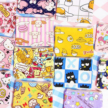 1 Pcs Cute Anime Hello Kitty Gudetama Egg Melody Twin Star Sailor Moon Dog Canvas Coin Bag Change Purse Stationery Card Holders(China)