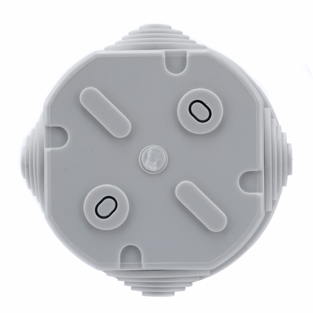 1pc Grey Round Waterproof Weatherproof Junction Box Plastic Electric Enclosure Case For Electrical Railways Mayitr