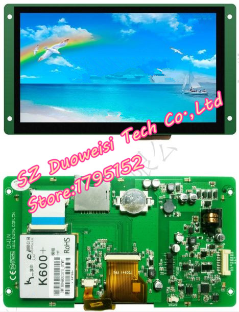 DMT80480C070_07WT C series DGUS capacitive touchscreen Starter Kit LCD MODULE DMT80480C070 full kits with parts