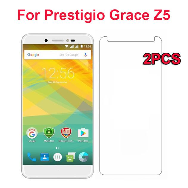 2PCS For Prestigio Grace Z5 Tempered Glass 9H High Quality Protective Film Explosion-proof Screen For Prestigio Grace Z5 Glass