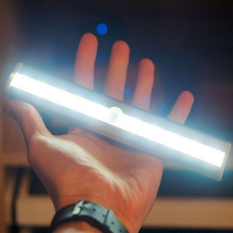 L0406 10 светодиодная инфракрасная лампа для шкафа с датчиком движения и выдвижным ящиком, беспроводной датчик, переключатель освещения шкафа,...