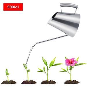 Image 5 - 900 ml/400 ml Paslanmaz Çelik sulama kovası Fırçalanmış Bahçe Dikim Yağmurlama Pot Yeşil Bitkiler Çiçekler Pratik bahçe aletleri