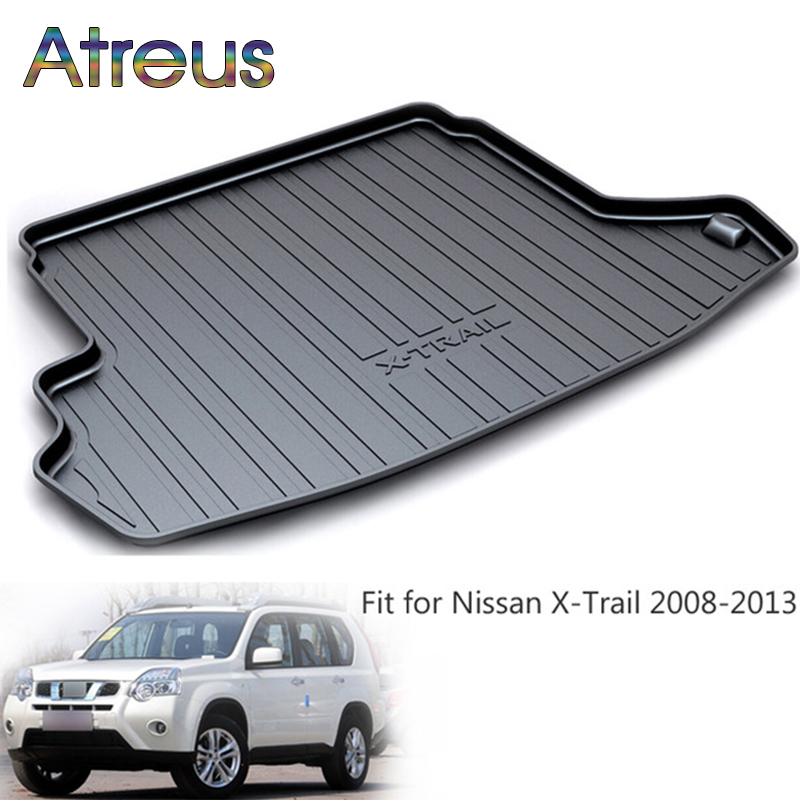 Atreus Car Rear Trunk Floor Mat Durable Carpet For Nissan X-trail T31 2009 2010 2011 2012 2013 Boot Liner Tray Anti-slip mat atreus car rear trunk floor mat durable carpet for toyota corolla e140 e150 2007 2013 boot liner tray waterproof anti slip mat