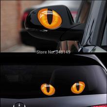 2 х Автомобилей Украшение Реальность Кошачий глаз Автомобилей Зеркало Заднего Вида окна наклейки И Наклейка Для Форда Насыщена VW Skoda Cruze Mini cooper