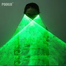 Gorące akumulatory zielone czerwone okulary laserowe LED Stage Luminous okulary dla klubu DJ/Party