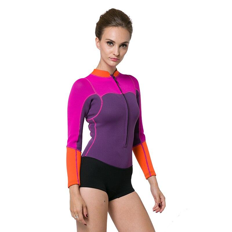 SBART Swimsuit Diving Women s Surfing 2MM Neoprene Wetsuit One Piece Swimsuit Long Sleeve Leg Wetsuit Maillot De Bain Femme