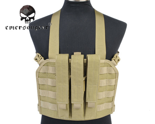 ФОТО Tactical Vest 1000D Nylon EMERSON Vest Simplified Version Hunting Military Paintball Vest Airsoft Combat Gear Camo EM7445
