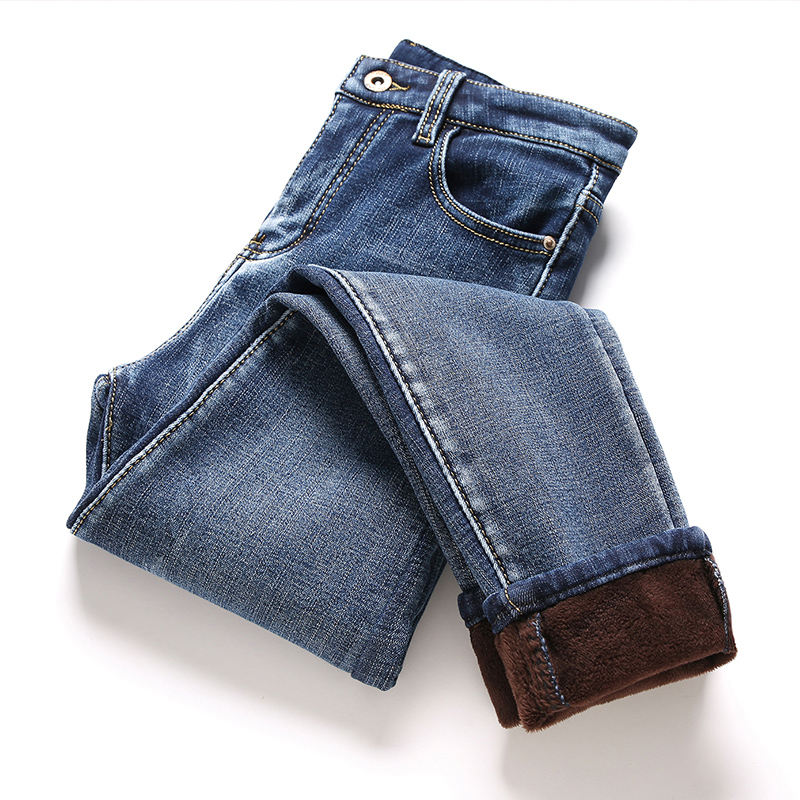 Winter   Jeans   Women New Plus Velvet Stretch Skinny High Waist   Jeans   Woman Vaqueros Mujer Long Pants Warm Denim   Jeans   Femme C5091