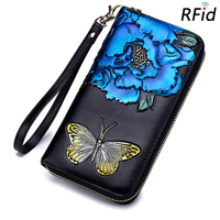 Billetera Feminina 2018 New Arrivals Large Capacity Fashion RIFD Protection Clutch Purses Long Butterfly Pattern Women Wallets