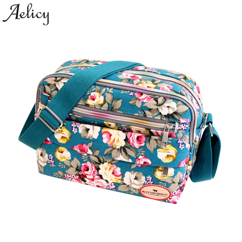 Detail Feedback Questions about Aelicy New Arrival Casual Fashion Women  Canvas Crossbody Bag Ladies Floral Handbag Shoulder Bag Female Messenger  Bag Women ... 61116eee84631