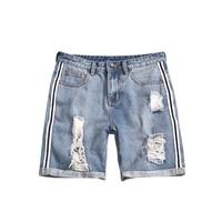 summer new plus size jeans shorts men scratch hole denim shorts for men big size men 5xl men fashion short
