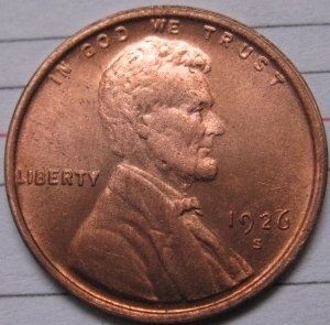 wholesale 1926-S Lincoln Penny Coins Copy 95% coper manufacturing